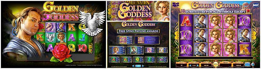 Golden Goddess Pokie Machine